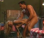 Briana Banks fucked hard on chair