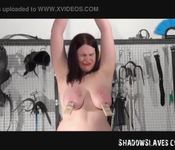 Amateur lezdom and dominatrice of bbw slave slut in hardcore whipping